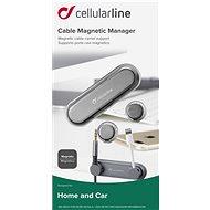 Cellularline Cable Manager 2 x magnetický klip černý - Organizér kabelů