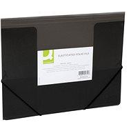 Q-CONNECT A4 s klopami a gumičkou, transparentně černé - Desky na dokumenty