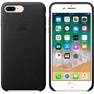 Apple iPhone 8 Plus/7 Plus Kožený kryt černý - Kryt na mobil