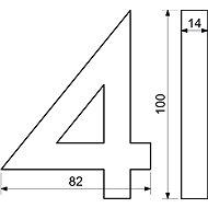 Richter Czech RN.100LV.9.AL.C.3D - Domovní číslo