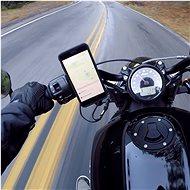 Rokform držák na řídítka motocyklu o průměru 22.2-31.75mm, stříbrný - Držák na mobilní telefon