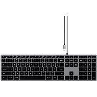 Satechi Slim W3 USB-C BACKLIT Wired Keyboard - Space Grey - US - Klávesnice