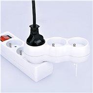 Solight Rozbočovací adaptér s podpěrou, 3 x 10A/230V bílý - Rozbočovač