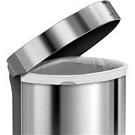 Simplehuman Bezdotykový koš 45l, půlkulatý, matná ocel, FPP, kapsa na sáčky - Bezdotykový odpadkový koš