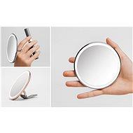 Simplehuman Sensor Compact kapesní zrcátko s LED osvětlením, rose gold ST3031 - Kosmetické zrcátko