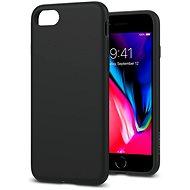 Spigen Liquid Crystal Matte Black iPhone SE 2020/7/ 8 - Kryt na mobil