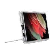 Samsung Průhledný zadní kryt se stojánkem pro Galaxy S21 Ultra průhledný - Kryt na mobil