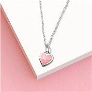 PRAQIA Růžové srdce KO6068_CU025_40_A (Ag925/1000, 1,11 g) - Náhrdelník