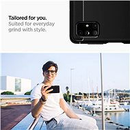 Spigen Rugged Armor Black Samsung Galaxy M51 - Kryt na mobil