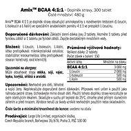 Amix Nutrition BCAA 4:1:1, 300 kapslí - Aminokyseliny