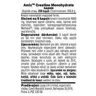 Amix Nutrition Creatine monohydrate, kapsle, 220 kapslí - Kreatin