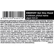 ENERVIT Gel One Hand s kofeinem (12,5 ml) malina - Energetický gel