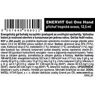 ENERVIT Gel One Hand (12,5 ml) tropické ovoce - Energetický gel