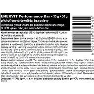 Enervit Performance Bar (30 + 30 g) tmavá čokoláda - Energetická tyčinka