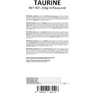 GymBeam Taurin 250 g - Stimulant