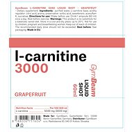 GymBeam L-karnitín 3000 Liquid Shot 60 ml, grapefruit - Spalovač tuků
