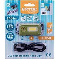EXTOL LIGHT čelovka 140lm, USB nabíjení, LED+COB LED - Čelovka