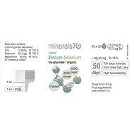 Minerals70 Liquid Zincum Selenium, 50ml - Minerály