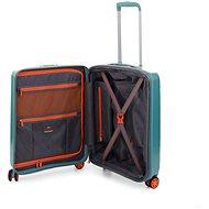 Roncato STELLAR, 55 cm, 4 kolečka, EXP, tyrkysová - Cestovní kufr s TSA zámkem