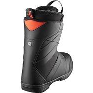 Salomon Faction Boa Black/Bk/Red Orange vel. 46.5 EU / 310 mm - Boty na snowboard