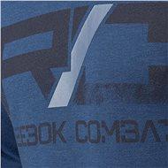 Reebok Combat Lightweight Hoodie, modrá vel. S - Mikina
