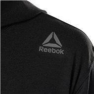 Reebok Combat Lightweight Hoodie, černá/bílá vel. M - Mikina