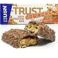 USN Trust Crunch, 60g, karamel s arašídy - Proteinová tyčinka