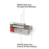 Swissten textilní datový kabel lightning 0.2m stříbrný - Datový kabel