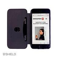 Swissten Shield book Samsung Galaxy A40 černé - Pouzdro na mobil