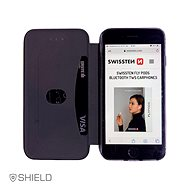 Swissten Shield book Samsung Galaxy A21s černé - Pouzdro na mobil