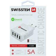 Swissten síťový adaptér SMART IC 4xUSB 5A - Nabíječka do sítě