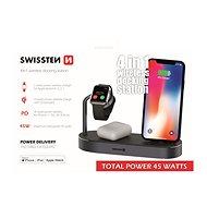 Swissten Wireless 4v1 MFi - Bezdrátová nabíječka