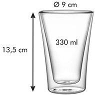 TESCOMA Dvoustěnná myDRINK 330 ml, 2 ks - Skleničky