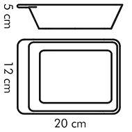 TESCOMA Zapékací miska servírovací GUSTO 20 x 12 cm - Zapékací mísa