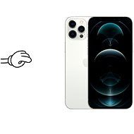 Tempered Glass Protector Antibacterial pro iPhone 12 Pro Max, Černé + sklo na kameru - Ochranné sklo