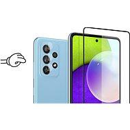 Tempered Glass Protector Rámečkové pro Samsung Galaxy A52 5G / A52, černé + sklo na kameru - Ochranné sklo