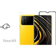 Tempered Glass Protector Antibacterial pro Xiaomi POCO M3, Černé + sklo na kameru - Ochranné sklo