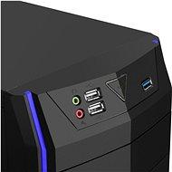 EVOLVEO R04 černá/ modrá - Počítačová skříň