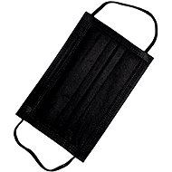 RespiLAB Jednorázové zdravotnické roušky - Černé  (10ks) - Ústenka