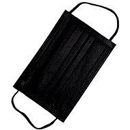 RespiLAB Dětské jednorázové  roušky - Černé  (10ks) - Ústenka