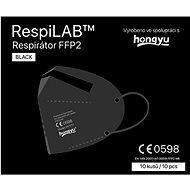 RespiLAB Černé respirátory FFP2, 10 ks - Respirátor