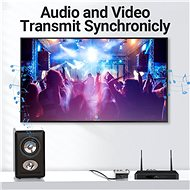 Vention RCA (Cinch / AV) to HDMI Converter Black Metal Type - Adaptér