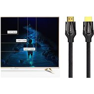 Vention Nylon Braided HDMI 2.0 Cable 3m Black Metal Type - Video kabel
