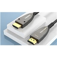 Vention Optical HDMI 2.0 Cable 60m Black Metal Type - Video kabel