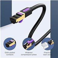 Vention Cat.7 SSTP Patch Cable 3m Black - Síťový kabel