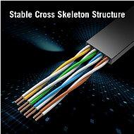 Vention Flat CAT6 UTP Patch Cord Cable 0.75m Black - Síťový kabel