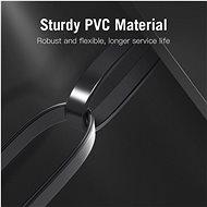 Vention Flat CAT6 UTP Patch Cord Cable 1m Black - Síťový kabel