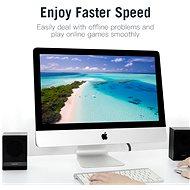 Vention Flat CAT6 UTP Patch Cord Cable 5m Black - Síťový kabel