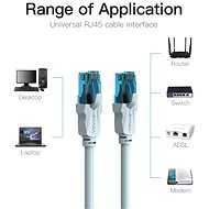 Vention CAT5e UTP Patch Cord Cable 0.75m Blue - Síťový kabel