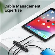 Vention 7 Ports Desktop Cable Manager Black 2 Pack - Organizér kabelů